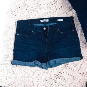 Banana republic jean shorts no rips